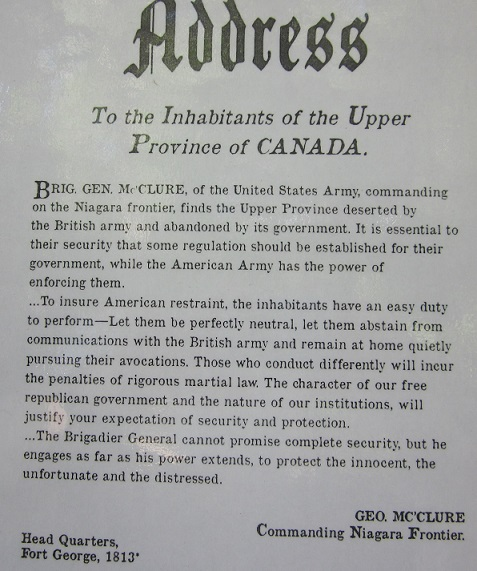Address to the Inhabitants of the Upper Province of Canada