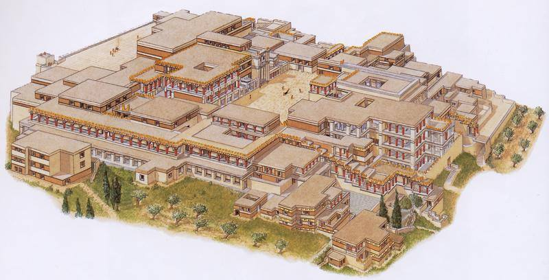 Artist's Reconstruction of Palace at Knossos..jpg