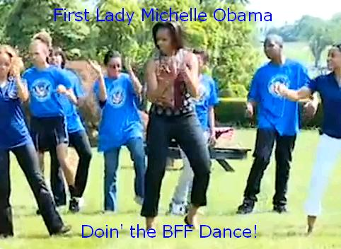 First Lady Michelle Obama doing BFF