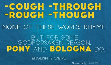 English is Weird from Grammarly