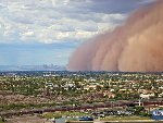 Haboob, or giant windy sandstorm