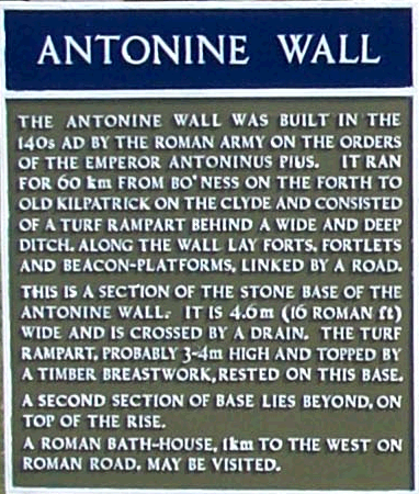 Wall plaque for the Antonine Wall