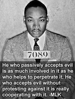 Rev Martin Luther King, Jr. quote and photo