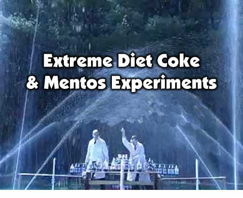 Extreme Diet Coke and Mentos Experiments site