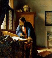 The Geographer by Vermeer, 1668