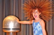 Girl holding static charge