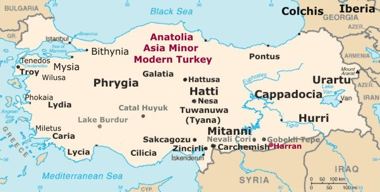 Map of ancient Anatolia