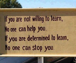 sign about learning