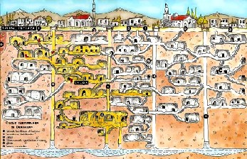an analysis of the underground city of derinkuyu in ancient subterranean cities Photos of the ancient city of derinkuyu reveal subterranean tunnels in the city stretch miles and even connect derinkuyu with other underground ancient cities.